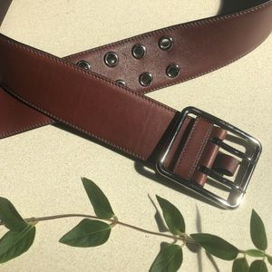 Prada Leather Belt.